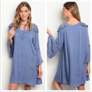 New blue flowy dress Size Small